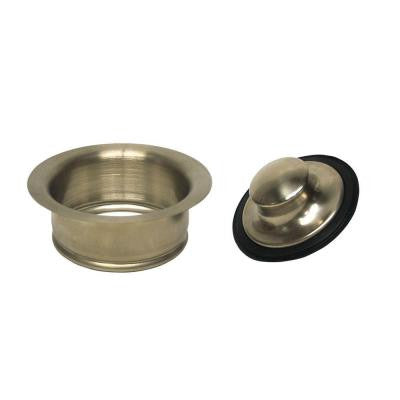 Disposal Rim and Stopper in Satin Nickel