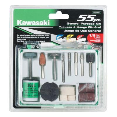 55-Piece General Purpose Accessory Set for Rotary Tools