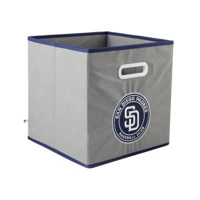 MLB STOREITS San Diego Padres 10-1/2 in. x 10-1/2 in. x 11 in. Grey Fabric Storage Drawer