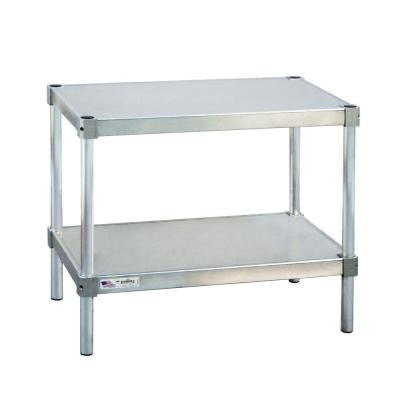 15 in. D x 42 in. L x 24 in. H 2-Shelf Aluminum Equipment Stand