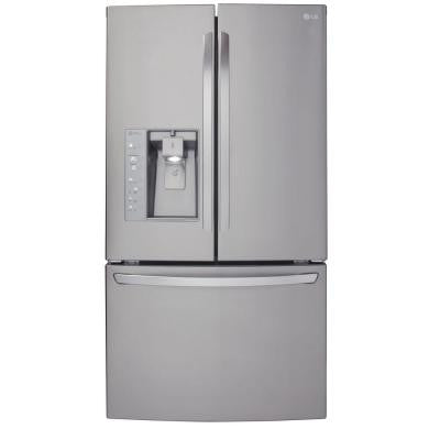 24.0 cu. ft. French Door Refrigerator in Stainless Steel, Counter Depth