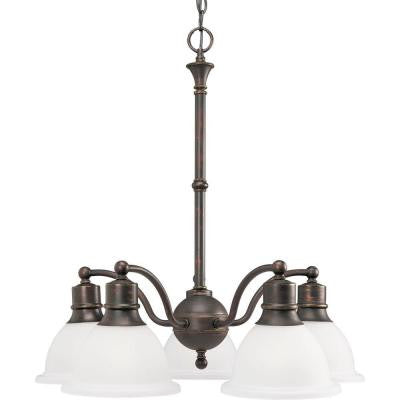 Madison 5-Light Antique Bronze Chandelier