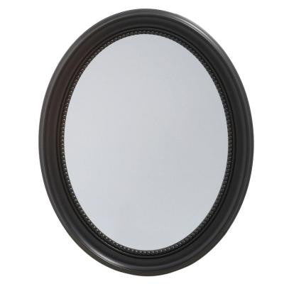 23-1/2 in. x 29 in. Recessed or Surface Mount Mirrored Medicine Cabinet in Espresso