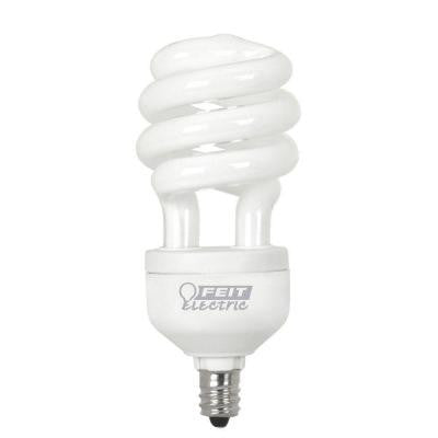 60W Equivalent Daylight (6500K) Candelabra Base Spiral CFL Light Bulb (24-Pack)