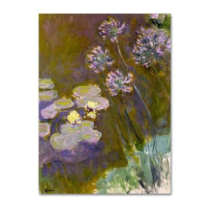 18 in. x 24 in. Waterlilies and Agapanthus Canvas Art