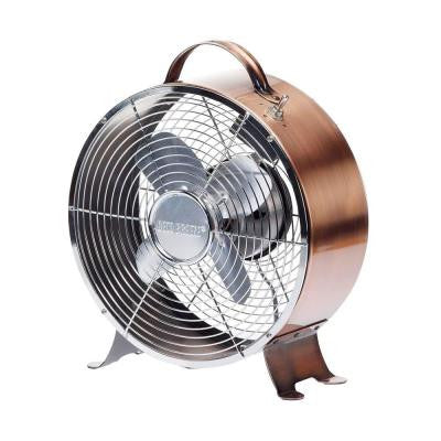 10 in. Copper Retro Table Fan