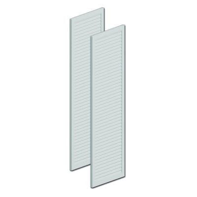 72 in. x 16 in. x 1 in. Polyurethane Louvered Shutters without Center Rail Pair