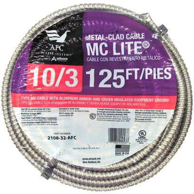 125 ft. 10-3 Solid MC Lite Cable
