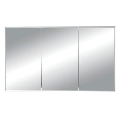 Horizon 48 in. W x 28-1/4 in. H x 5 in. D Recessed Medicine Cabinet with 1/2 in. Beveled Mirror in White