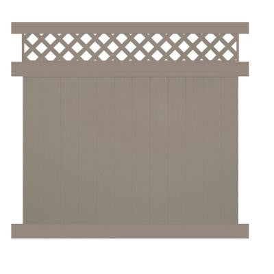 Colfax 6 ft. x 6 ft. Khaki Vinyl Privacy Fence Panel