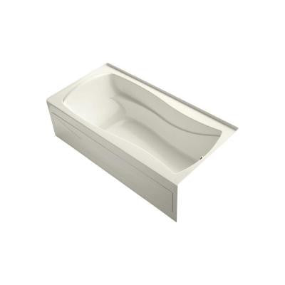 Mariposa VibrAcoustic 6 ft. Right Drain Soaking Tub in Biscuit
