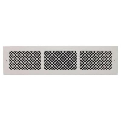 Essex Base Board 6 in. x 30 in. Polymer Resin Decorative Cold Air Return Grille, White