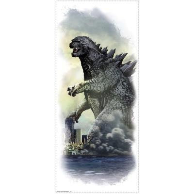 5 in. x 19 in. Godzilla City Wall Graphic Peel and Stick Wall Decal