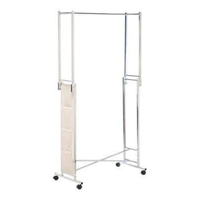 Steel Double Folding Square Tube Garment Rack