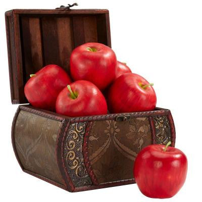 3.5 in. H Red Faux Apple (Set of 6)