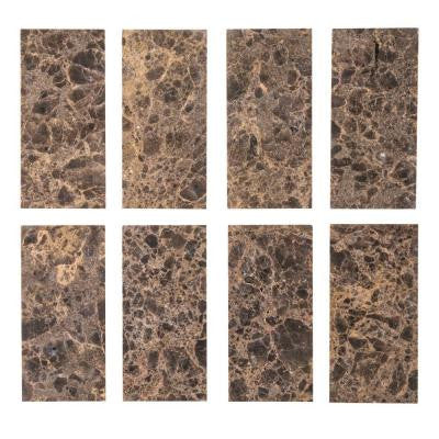 Emperador 3 in. x 6 in. Honed Marble Floor/Wall Tile (8 pieces / 1 sq. ft. / pack)