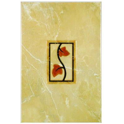 Aroa Arena Beige 8 in. x 12 in. Ceramic Decor Wall Trim Tile