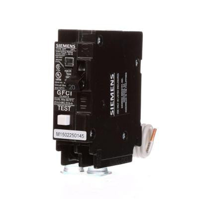 20 Amp Single-Pole Type QPF GFCI Circuit Breaker