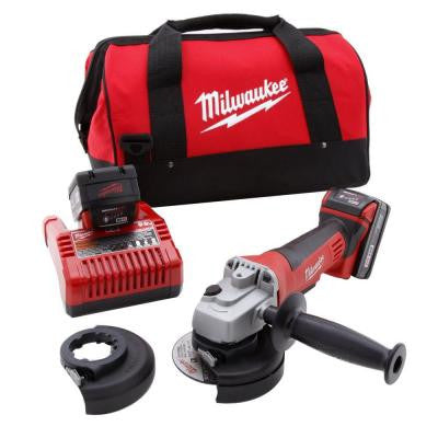M18 18-Volt Lithium-Ion Cordless 4-1/2 in. Cut-Off Wheel and Grinder (Tool-Only)