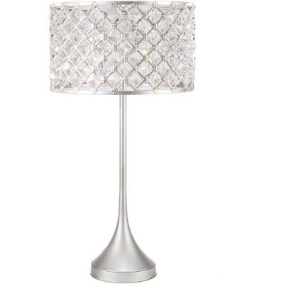 Corliss 30 in. Brushed Silvertone Indoor Table Lamp