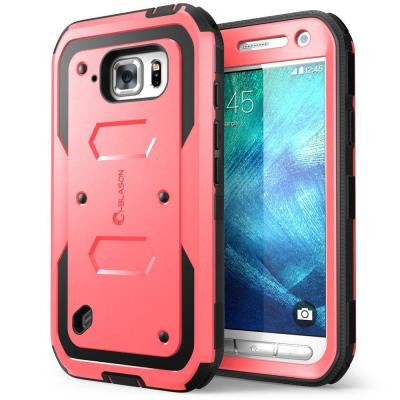 Galaxy S6 Active Armorbox Series Full Body Case with Screen Protector - Pink