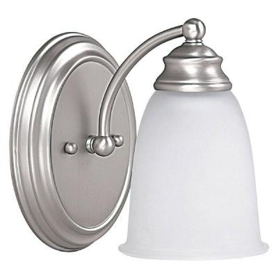 Johnson 1-Light Matte Nickel Incandescent Sconce