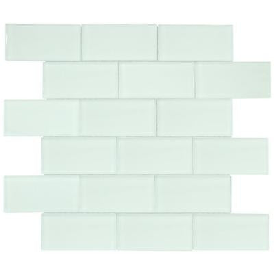 Siberian Gloss 11-5/8 in. x 12-5/8 in. x 8 mm Glass Mosaic Tile