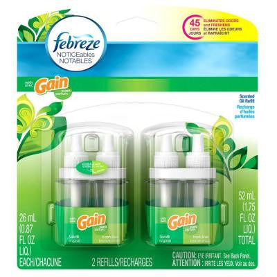 Noticeables 0.879 oz. Original Gain and Linen Dual Scented Oil Refill (2-Pack)