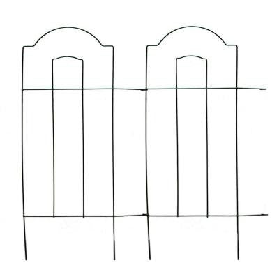 32 in. Steel Wire Cathedral Folding Garden Fence