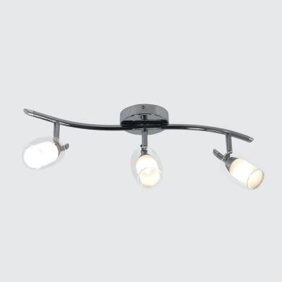 Accent Chrome Plate Track Lighting Fixture