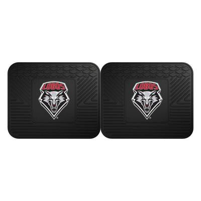 NCAA University of New Mexico Black Heavy Duty 2-Piece 14 in. x 17 in. Vinyl Utility Mat