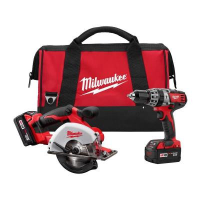 M18 18-Volt Lithium-Ion Cordless Compact Drill/Metal Circular Saw Combo Kit (2-Tool)