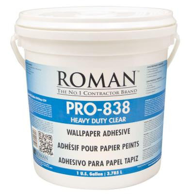 PRO-838 1 gal. Heavy Duty Clear Wallcovering Adhesive