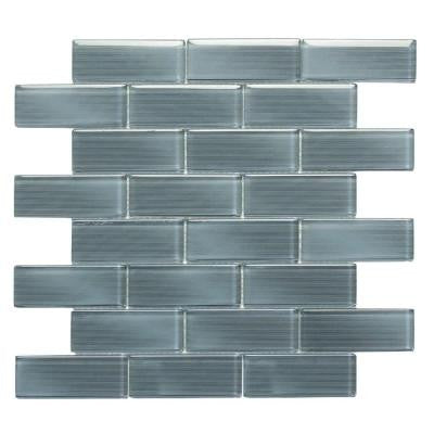 Mardi Gras Metairie 12 in. x 12 in. x 6.35 mm Medium Gray Glass Mesh-Mounted Mosaic Wall Tile (10 sq. ft. / case)