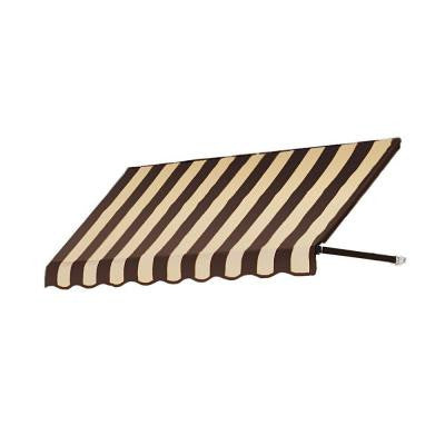 35 ft. Dallas Retro Window/Entry Awning (44 in. H x 48 in. D) in Brown/Tan Stripe