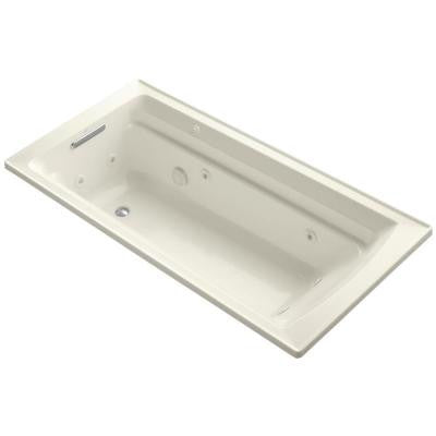 Archer 6 ft. Whirlpool Tub in Biscuit