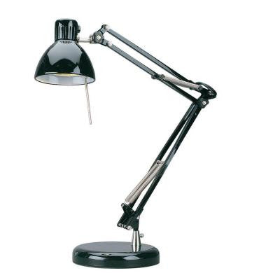 1-Light Desk Lamp Black Finish
