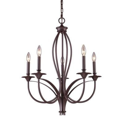 Medford 5-Light Oiled Bronze Chandelier