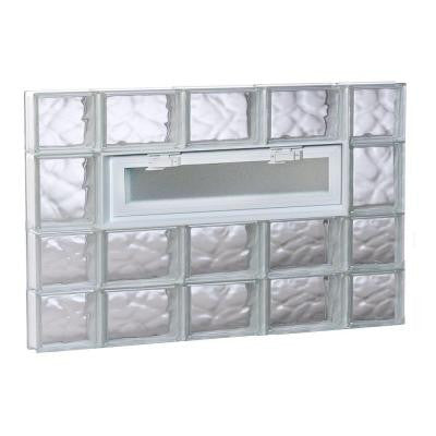 34.75 in. x 25 in. x 3.125 in. Vented Wave Pattern Glass Block Window