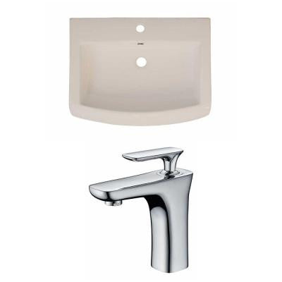 24 in. W x 18 in. D Ceramic Vanity Top Set with Basin in Biscuit with Single Hole cUPC Faucet