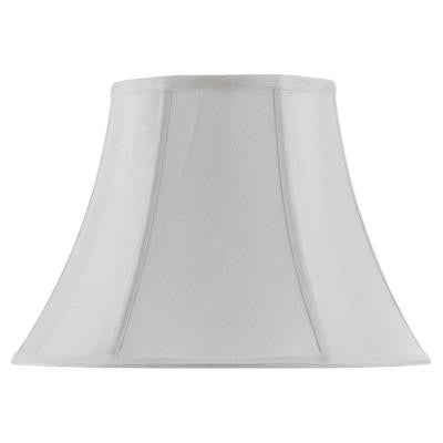 12 in. White Vertical Piped Basic Bell Shade