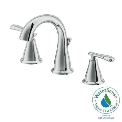 1400 Series 8 in. Widespread 2-Handle High-Arc Bathroom Faucet in Chrome