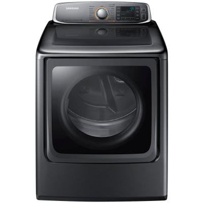 30 in. W 9.5 cu. ft. Electric Dryer with Steam in Platinum
