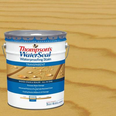 5 gal. Harvest Gold Transparent Waterproofing Stain