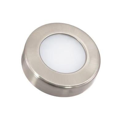 3-Light LED Nickel Under Cabinet Puck Light Kit