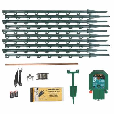 Garden Protector Battery-Powered Electric Fence Kit