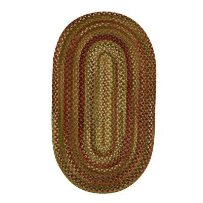 Applause Evergreen 5 ft. x 8 ft. Oval Area Rug