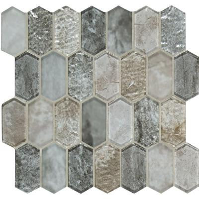 Savoy Picket Pattern 12 in. x 12 in. x 8 mm Glass Mesh-Mounted Mosaic Tile (10 sq. ft. / case)