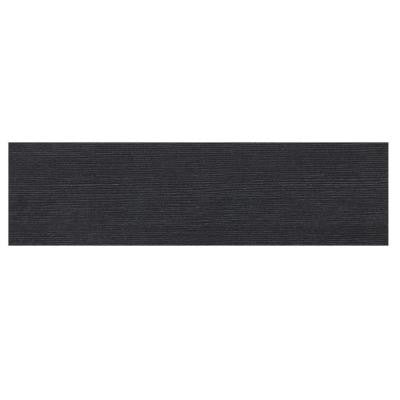 Identity Twilight Black Grooved 4 in. x 24 in. Porcelain Bullnose Floor and Wall Tile