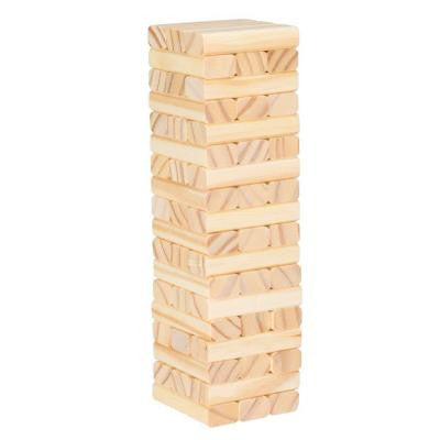 10.5 in. Tabletop Wooden Wobble Stacking Game